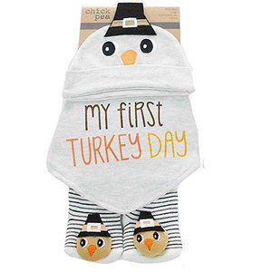 My First Thanksgiving Cap Socks Bandana Bib